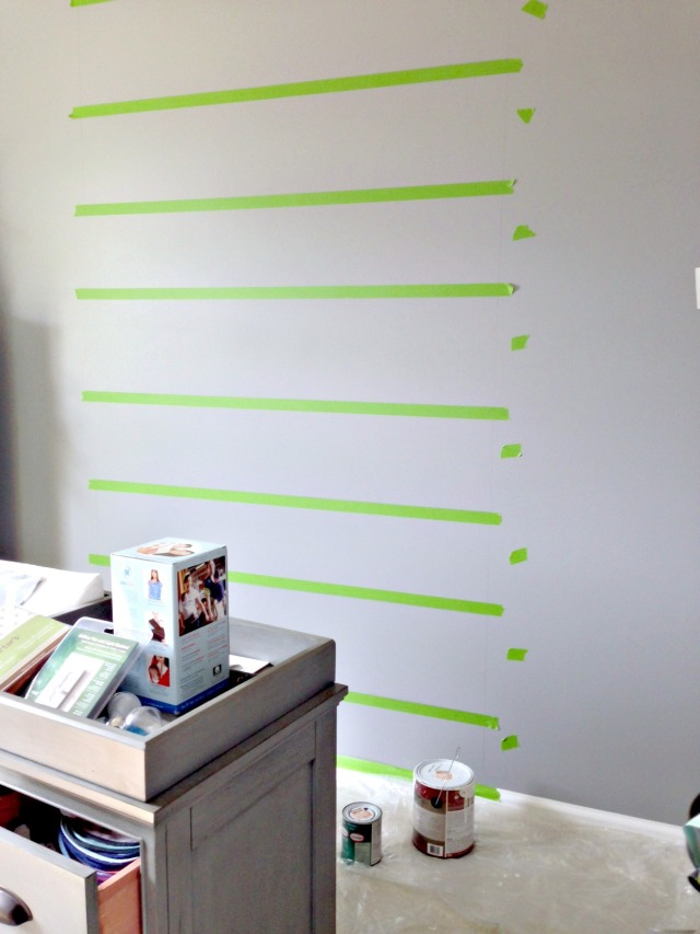 tape off each stripe for painting