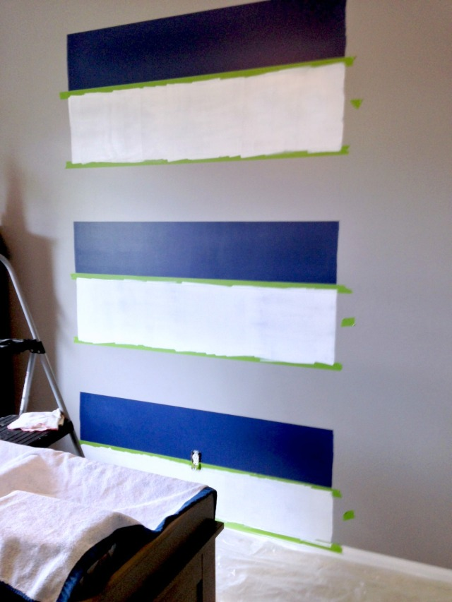 paint one color at a time, let dry + go onto the next