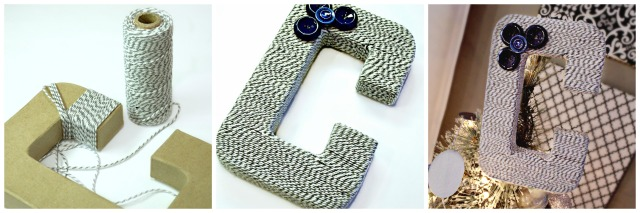 Paper Mache Letter - Hobby Lobby Buttons - JoAnn Fabric