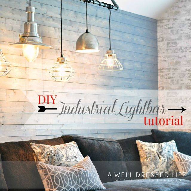 Industrial Light Fixture via AWellDressedLife